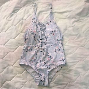 Other - (SOLD!!!) Floral Criss Cross One-Piece Swimsuit